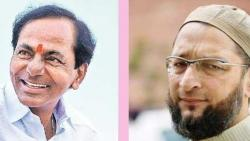 after ghmc results g kishan reddy says kcr and owaisi eat birayani together