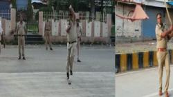 police play cricket on road news