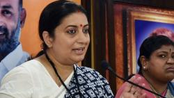 union minister smriti irani targets trs and aimim in ghmc election campaign