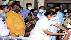 The first vaccine was taken by X-ray scientific officer Balsaheb Kharmate in Satara ...