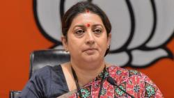 union minister smriti irani slams opposition on rajya sabha chaos