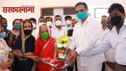 Jayant Patil felicitated 108 year old Zarina grandmother who took two doses of vaccine
