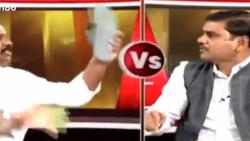 On camera chappal hurled at Andhra Pradesh BJP leader during live TV show