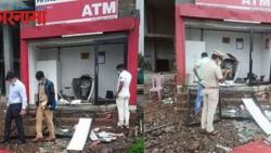 In Chakan, an ATM machine was blown up with the help of explosives