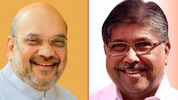 What good news did Amit Shah give to Chandrakant Patil?