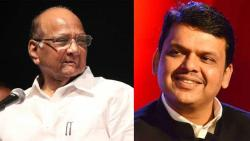 If Sharad Pawar guided the government, what is the reason for Fadnavis' stomach ache?
