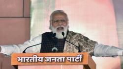 narendra modi addresses rally in west bengal via video conferencing