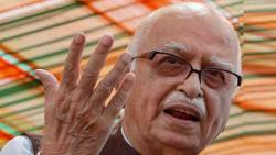 L K Advani welcomed the court verdict by chanting jai shri ram