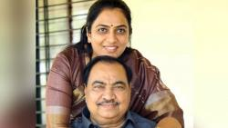 Eknath Khadse With Daughter Rohini khadse