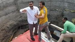 MLA Rahul Aher Went into the Well to Help Accident Victims