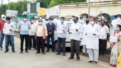 BJP MLAs took to the streets against the police action