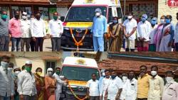 Dedication of the same ambulance four times in Ambegaon taluka
