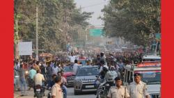 police stopped actress amisha patel road show in bihar