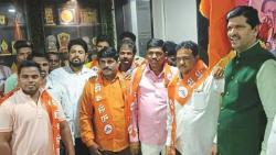 NCP Workers in Neral Entered Shivsena