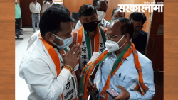 NCP Corporators protested against officer who attended BJP Meeting