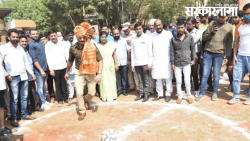 PCMC Police Commissioner Inaugurating Football Competition