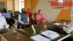 shiv sena mp shrirang barne meets pcmc commissioner