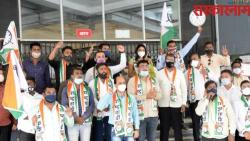 ncp leaders protest in pcmc against delay in purchasing remdesivir