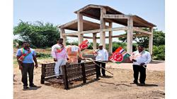 Burning of state government statue in the cemetery by Rayat Kranti Sanghatana