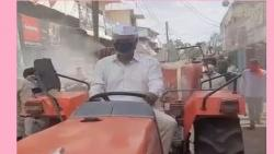 minister sattar driving tractor news