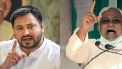 Tejashwi yadav furious over onions thrown at chief minister nitish kumar