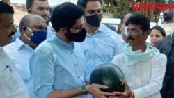 Aditya Thackeray got a gift of watermelons and Cucumber .jpg