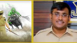 beed police hero arrives at home from hospital