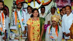 Minister Jayant Patil Felicitated in Islampur