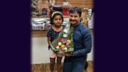 PCMC Police Commissioner Congratulating Young Cyclist