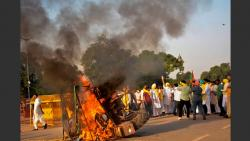 youth congress chief arrested in connection with burning of tractor at india gate