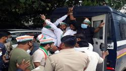youth congress protest aginst bjp news