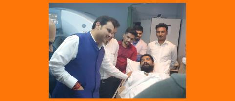 devendra fadanvis meets shivendrasinh bhosale in hospital