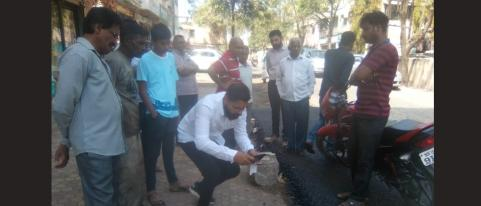 Nashik MNS Takes Objection to Low Quality Road Construction