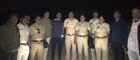 Police and Forest Officers Doused Fire at Talegaon