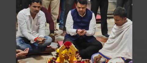 Devendra Fadanavis Took Darshan At Shani Shingnapur