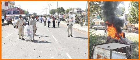 dhule bandh turns violent