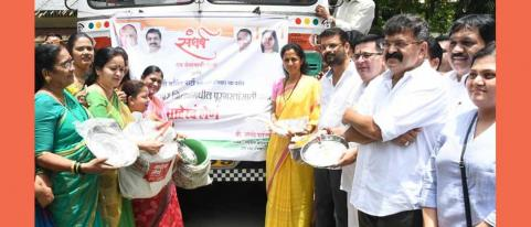 Thane NCP- send help for flood affected women