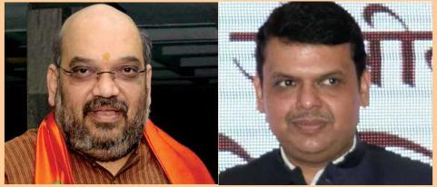 meeting kicks off at amit shah residence on political situation in maharashtra
