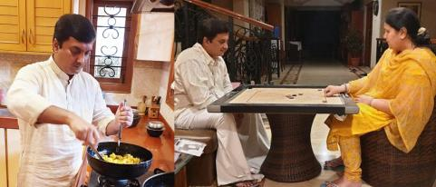 Dhananjay Mahadik Spending Time with Family in Lock Down Period