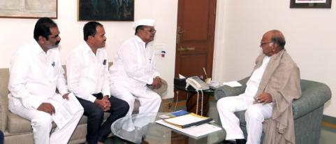 NCP President Sharad Pawar Discussion with Theachers Association Representatives