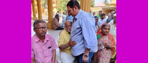 udaynraje meets people regularly