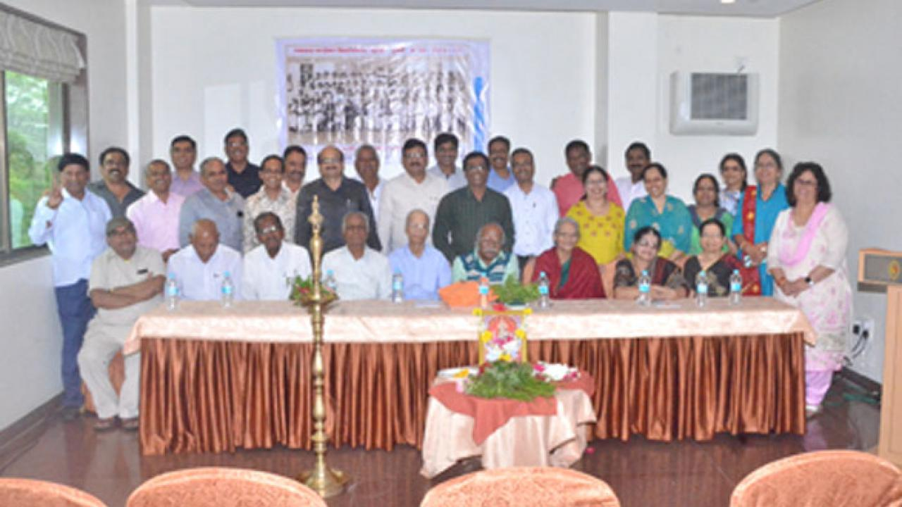 An alumni gathering at the Indapur school was held